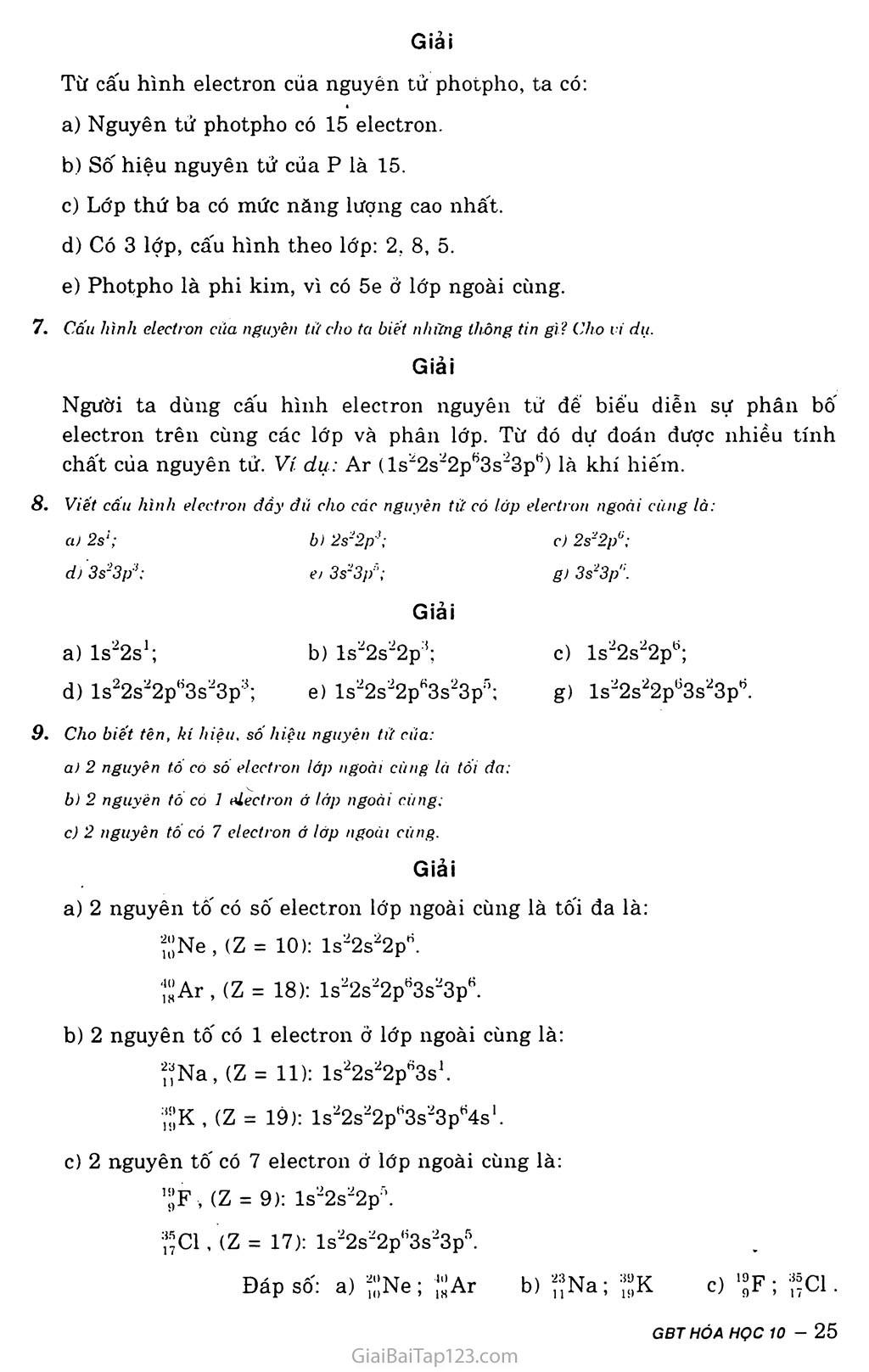 Bài 6: Luyện tập: Cấu tạo vỏ nguyên tử trang 3