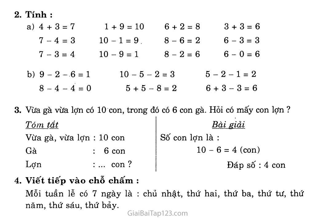 Bài 126: Ôn tập: Các số đến 10 trang 2