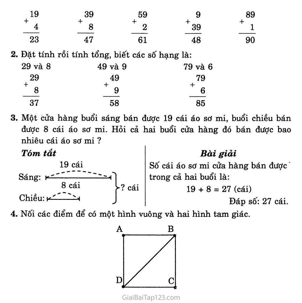 Bài 15: 29 + 5 trang 2