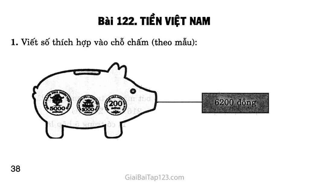 Bài 122: Tiền Việt Nam trang 1