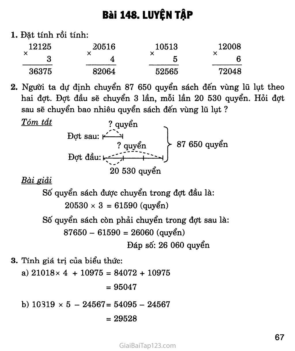 Bài 148: Luyện tập trang 1