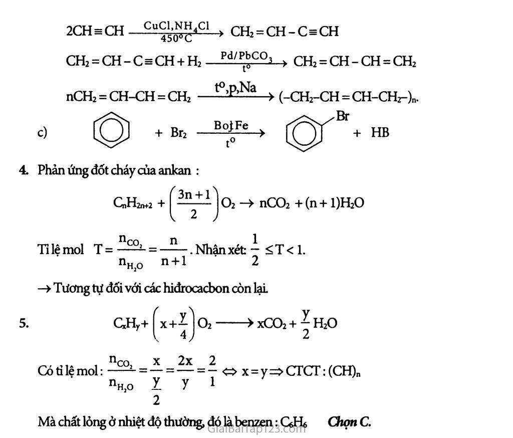 Bài 38: Hệ thống hóa về hiđrocacbon trang 2