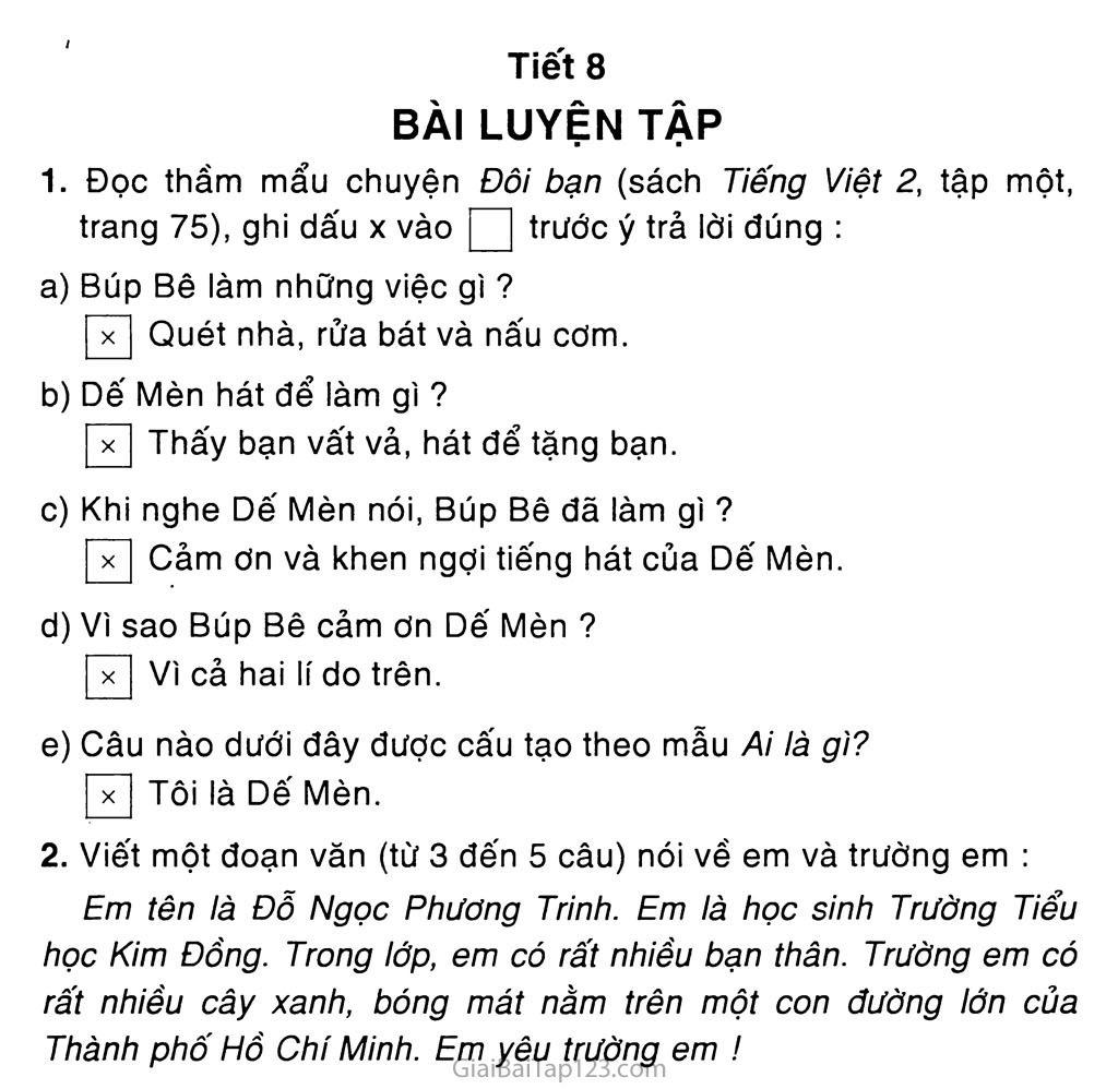 Tuần 9: Ôn tập giữa học kì I (*) trang 7