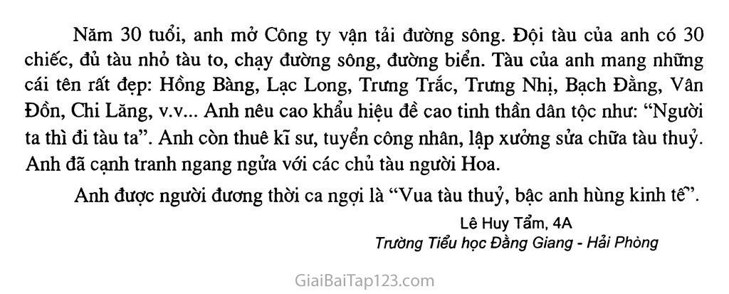 Bài 29: Kể chuyện vể Bạch Thái Bưởi