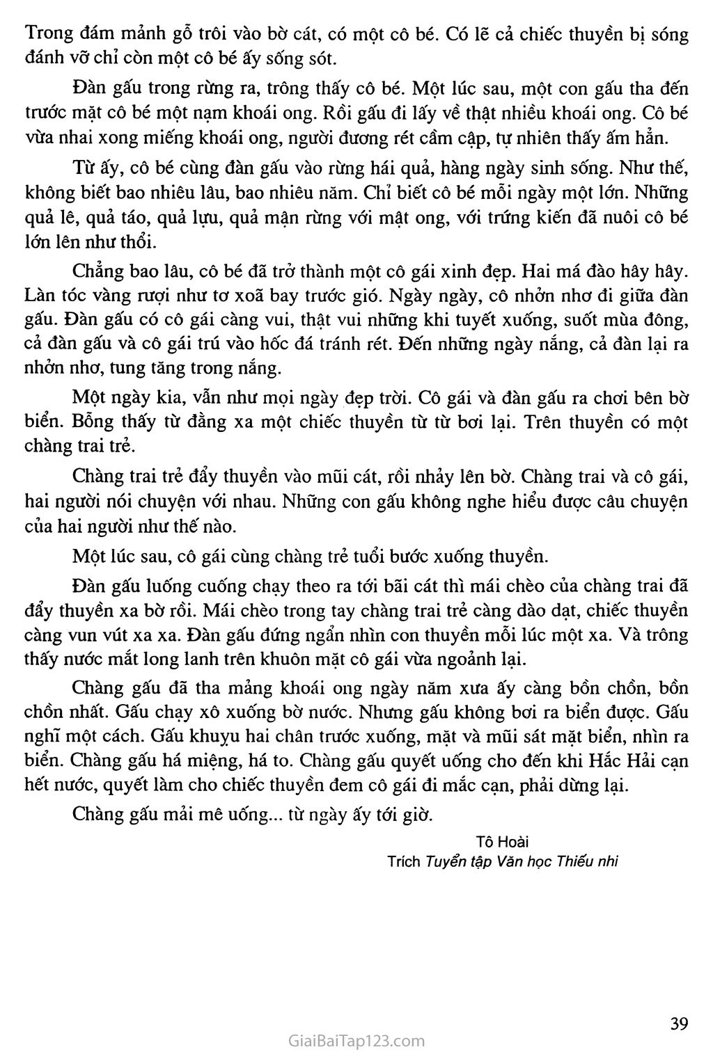 Bài 34: Kể lại một truyện cổ em đã đọc: Núi Gấu trang 2