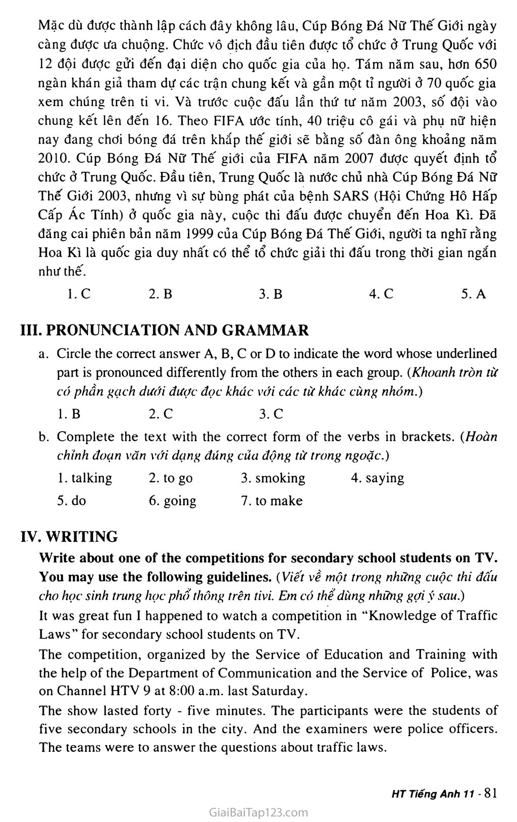 Test Yourself B trang 2