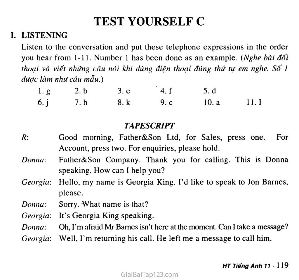 Test Yourself C trang 1