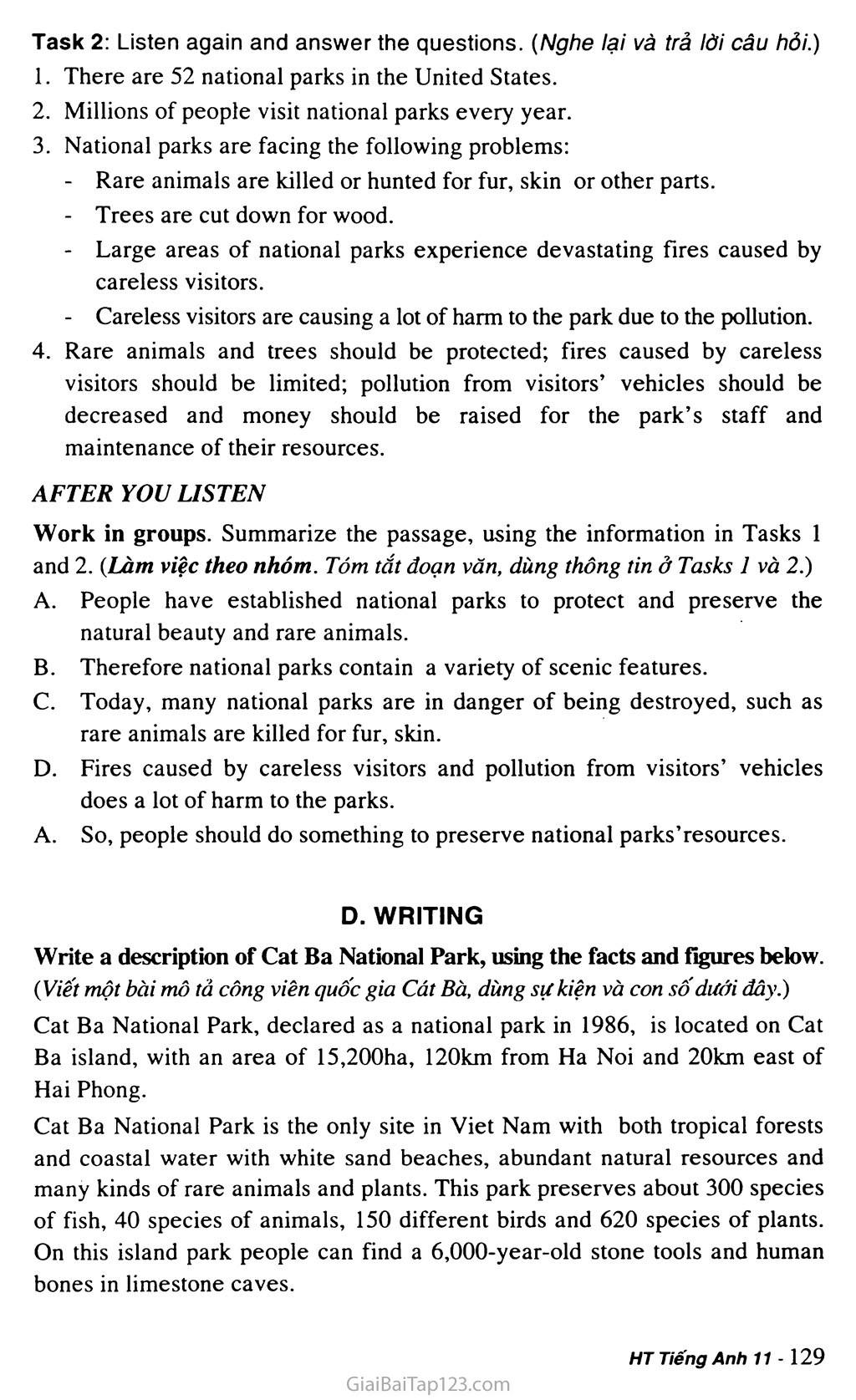 Unit 10: NATURE IN DANGER trang 9