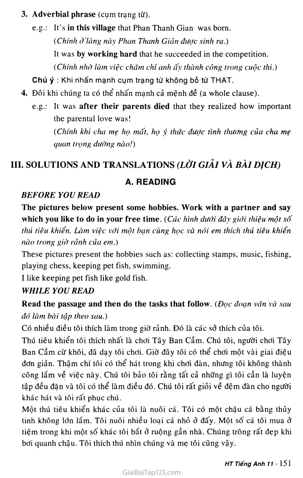 Unit 13: HOBBIES trang 4