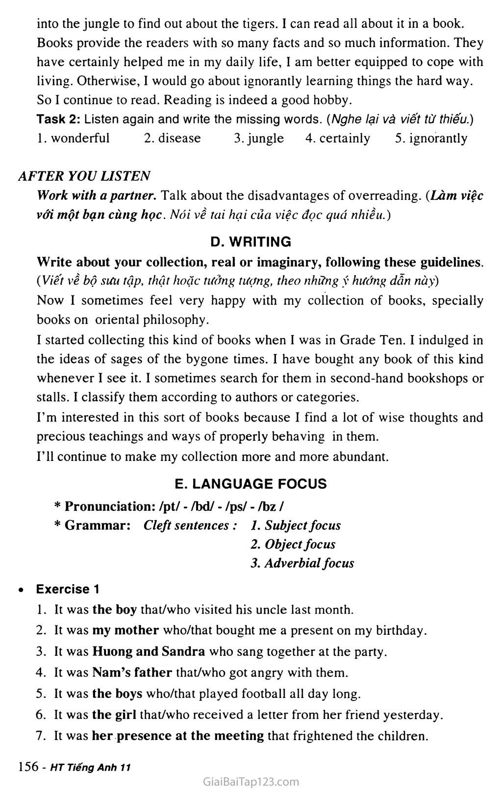 Unit 13: HOBBIES trang 9