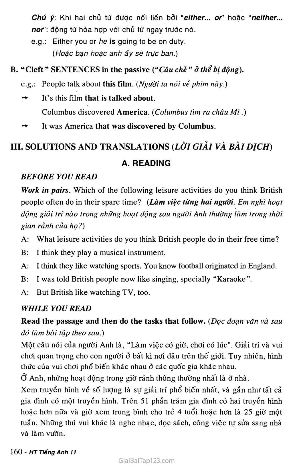 Unit 14: RECREATION trang 4