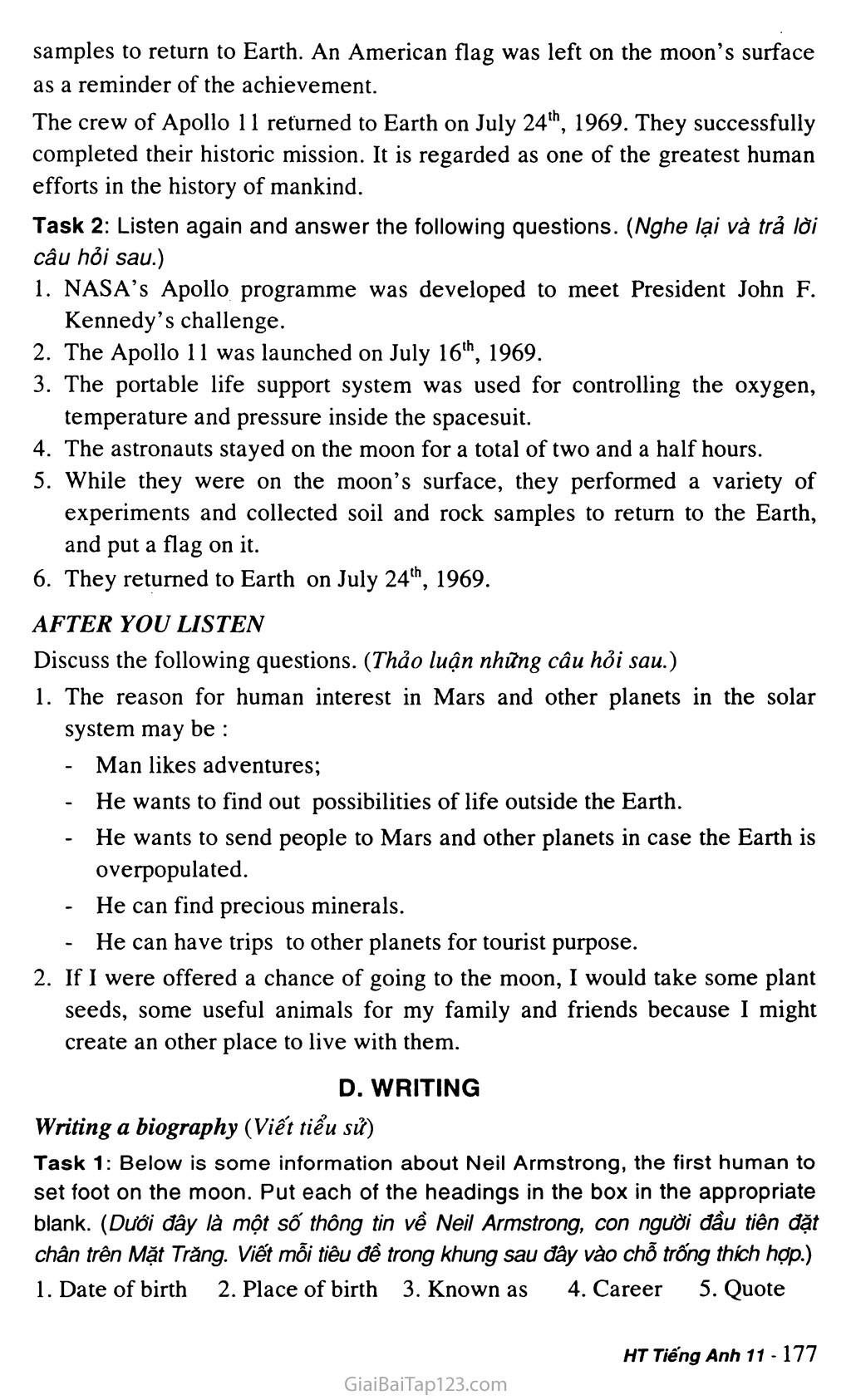 Unit 15: SPACE CONQUEST trang 10