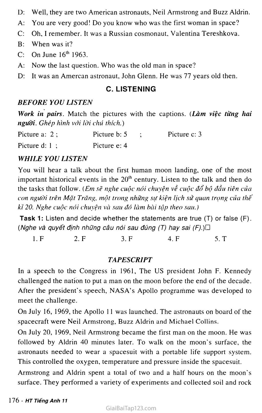 Unit 15: SPACE CONQUEST trang 9