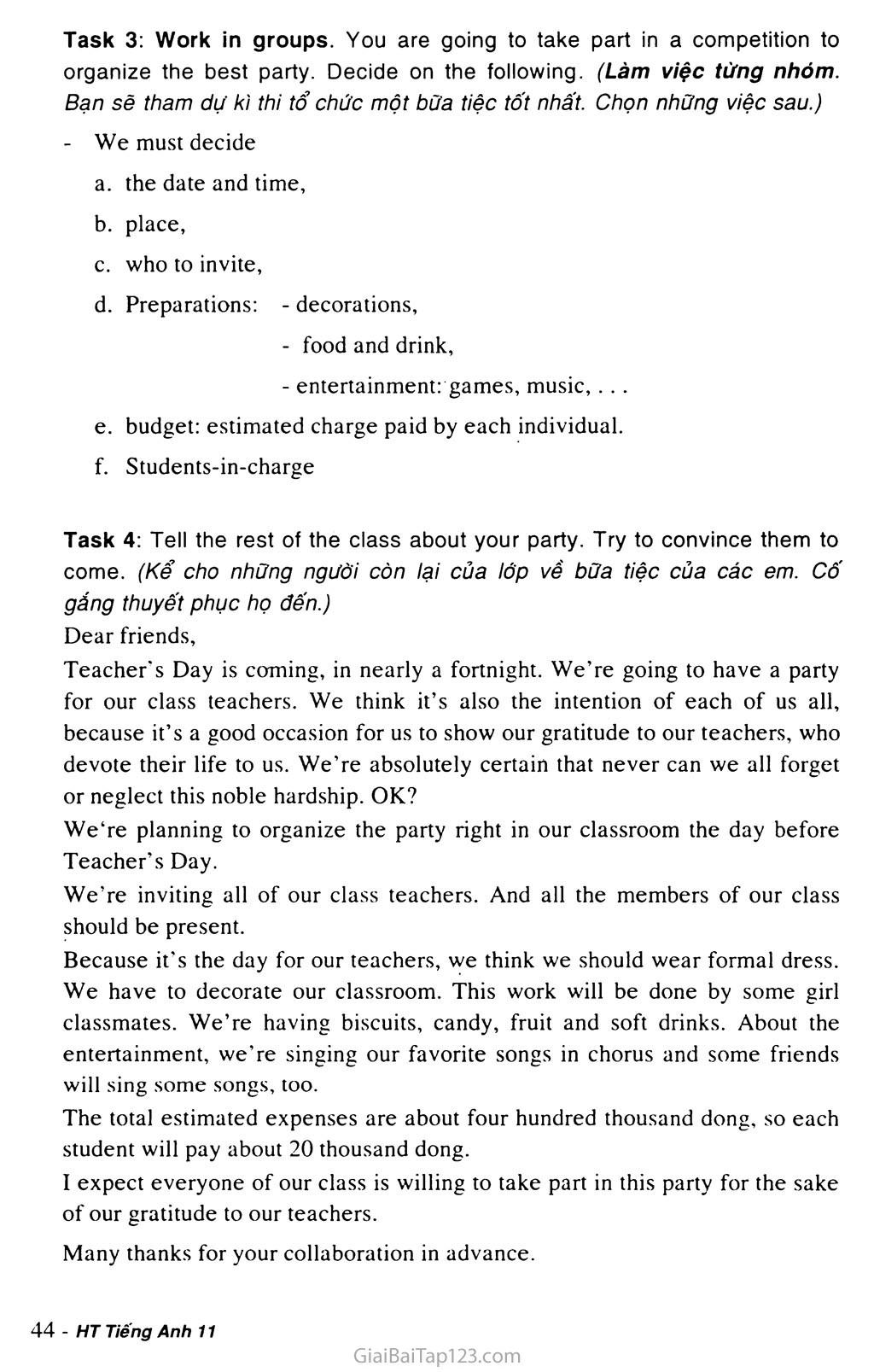 Unit 3: A PARTY trang 15