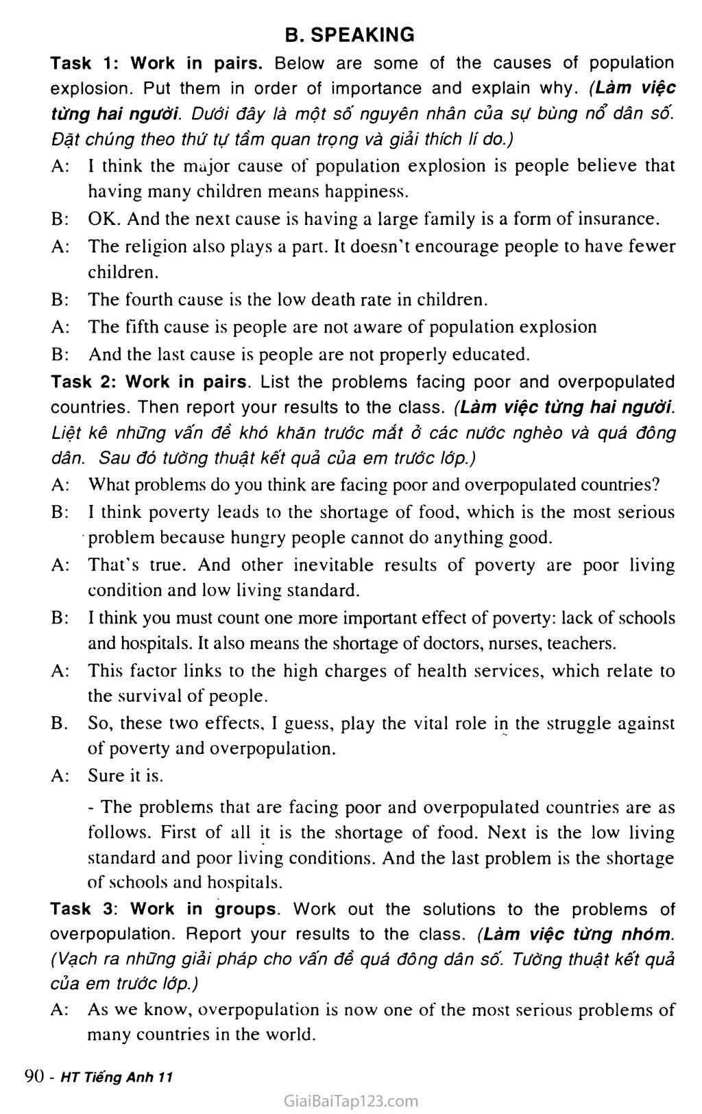 Unit 7: WORLD POPULATION trang 9
