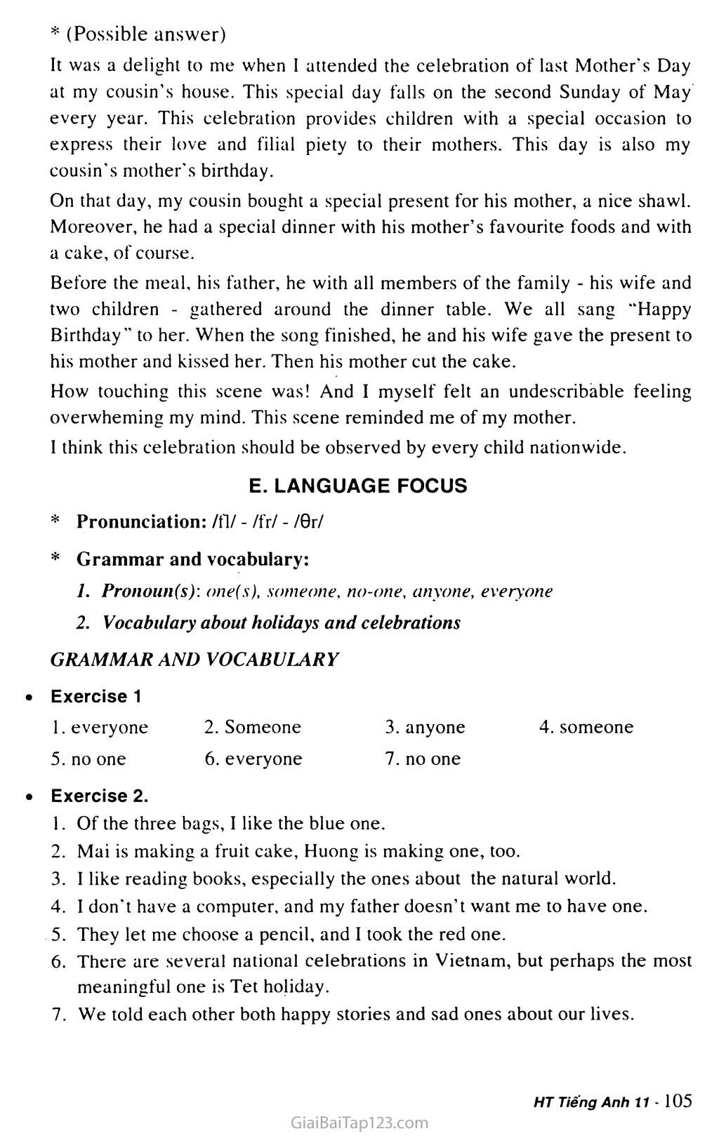 Unit 8: CELEBRATIONS trang 11