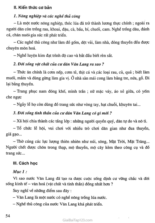 Bài 13: Đời sống vật chất và tinh thần của cư dân Văn Lang trang 2