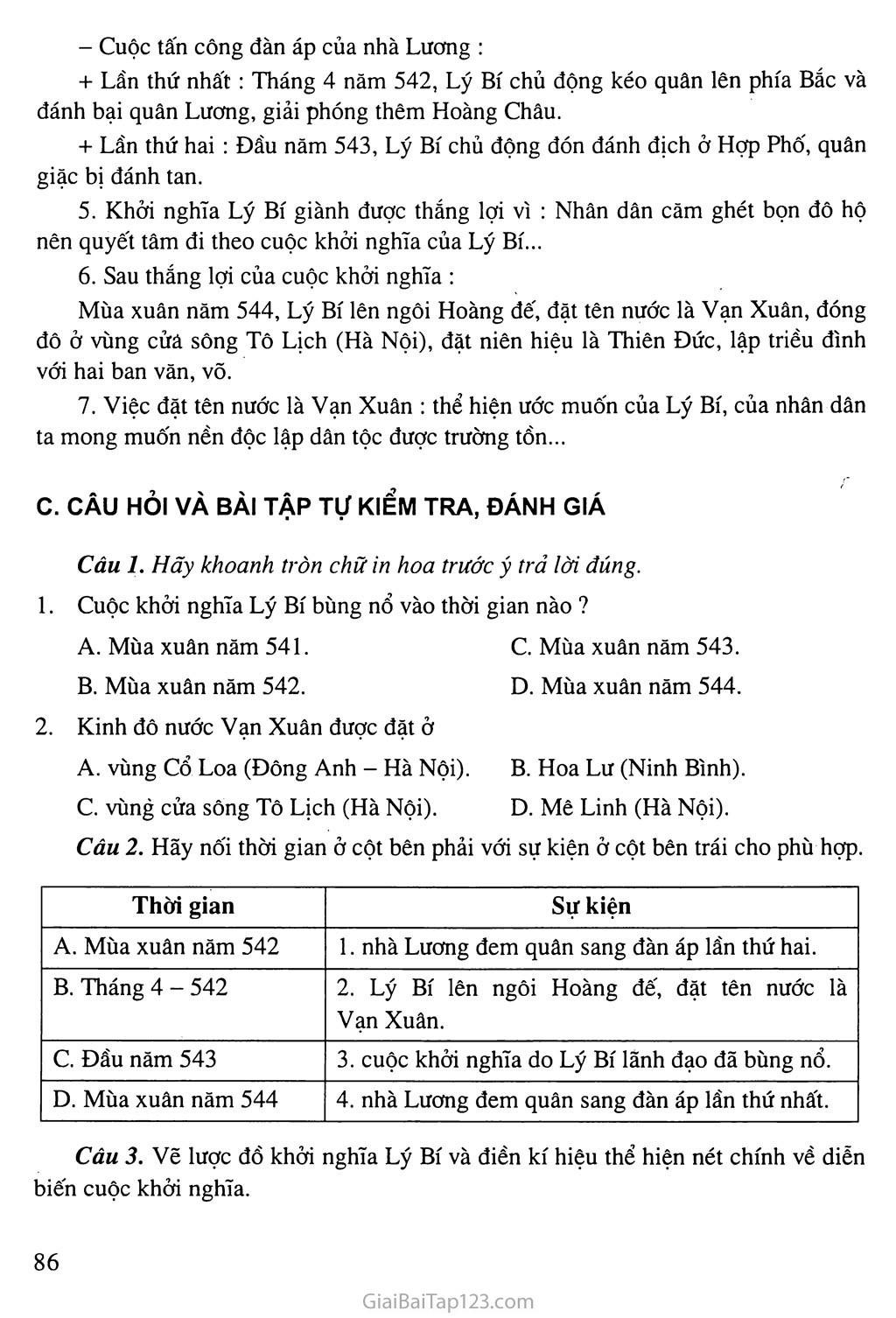 Bài 21: Khởi nghĩa Lý Bí. Nước Vạn Xuân (542 - 602) trang 4