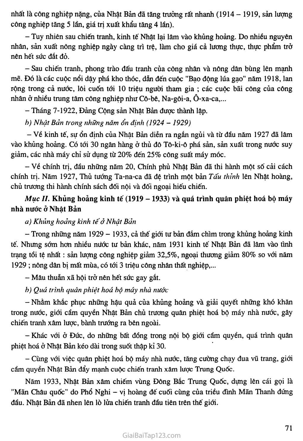 Bài 14: Nhật Bản giữa hai cuộc chiến tranh thế giới (1918 - 1939) trang 2
