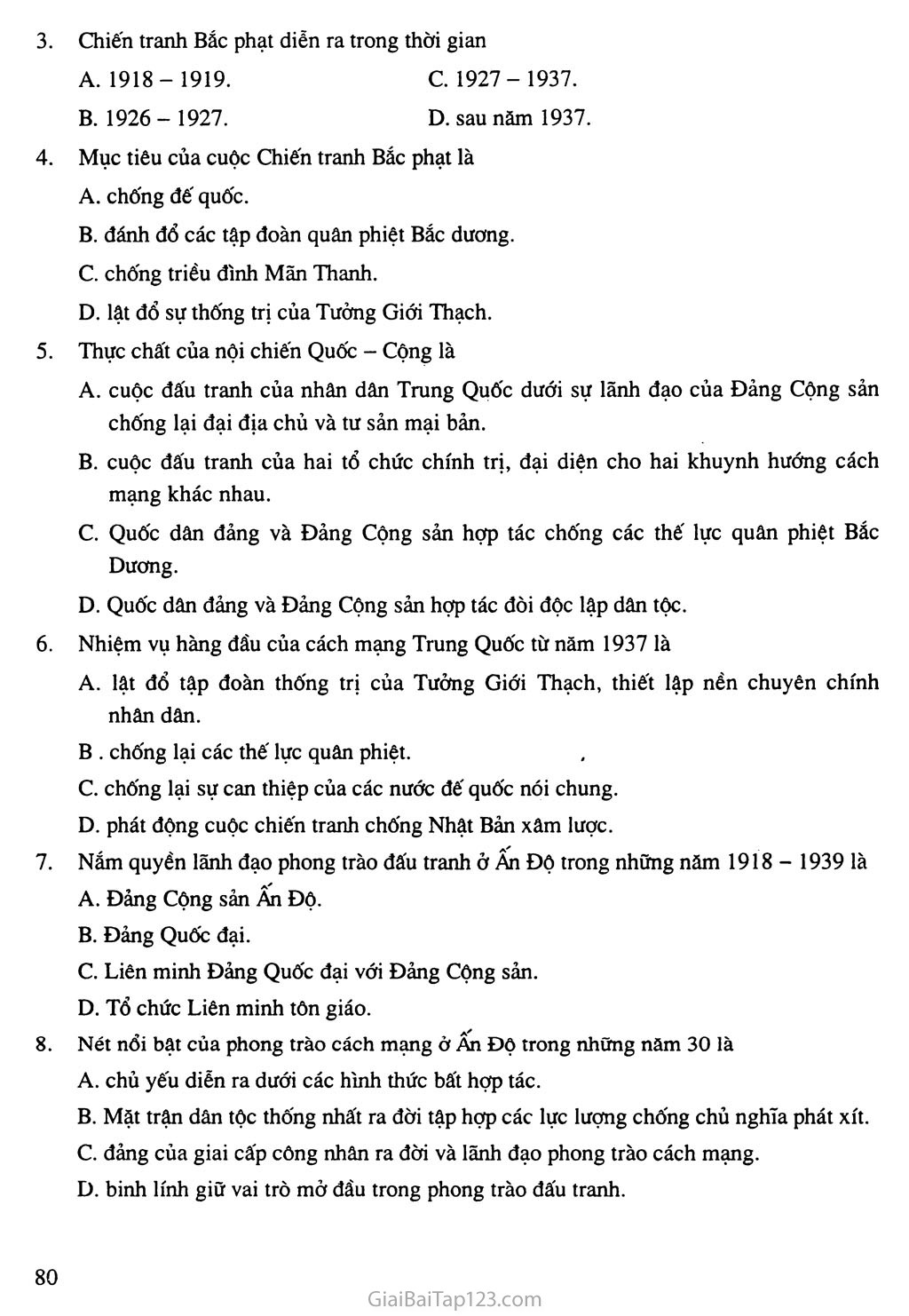 Bài 15: Phong trào cách mạng ở Trung Quốc và Ấn Độ (1918 - 1939) trang 6