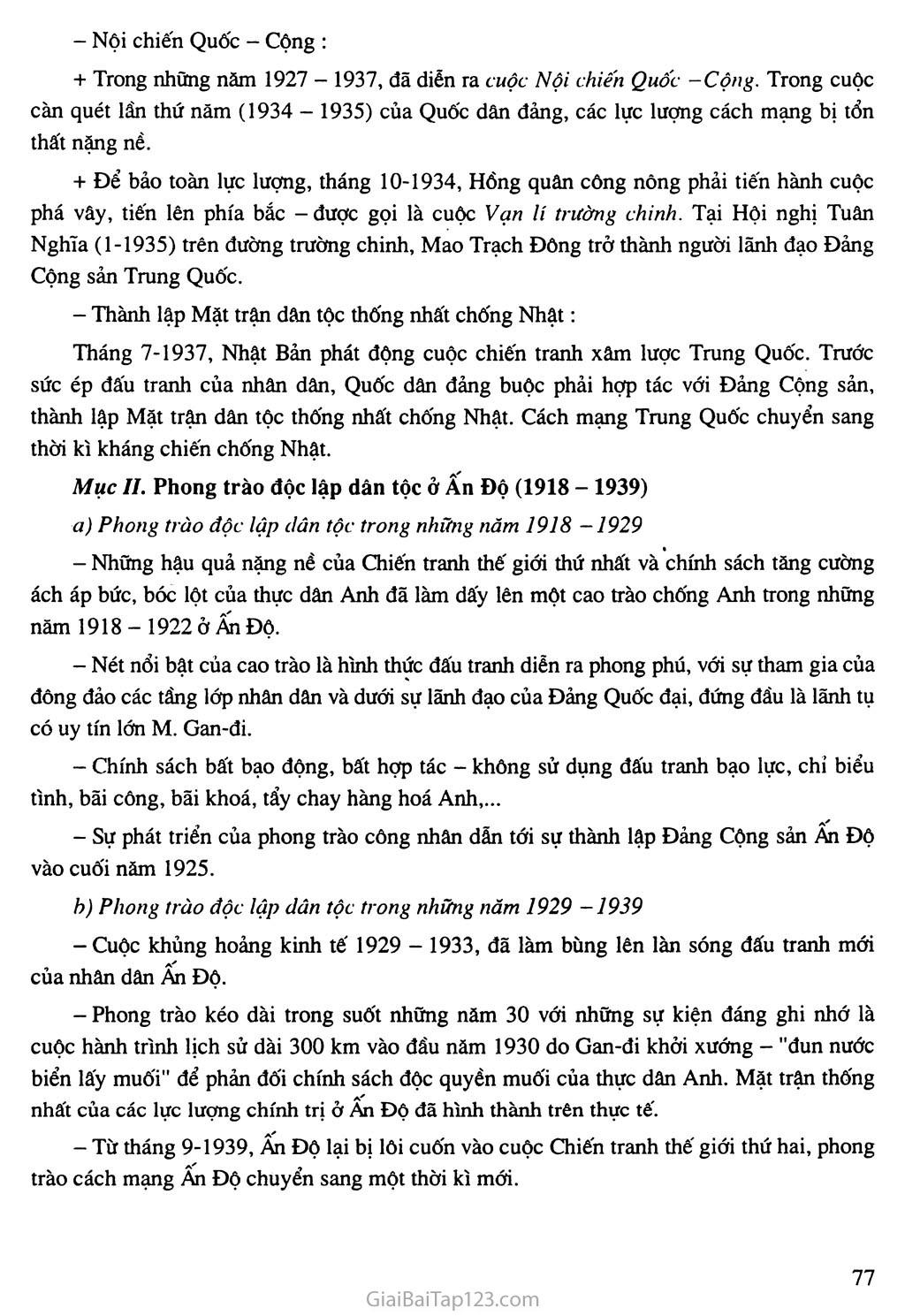 Bài 15: Phong trào cách mạng ở Trung Quốc và Ấn Độ (1918 - 1939) trang 3