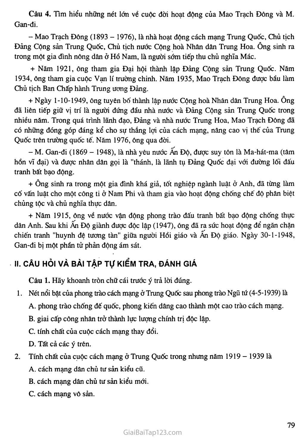 Bài 15: Phong trào cách mạng ở Trung Quốc và Ấn Độ (1918 - 1939) trang 5