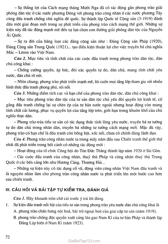 Bài 15: Phong trào cách mạng Việt Nam sau Chiến tranh thế giới thứ nhất (1919 - 1925) trang 4