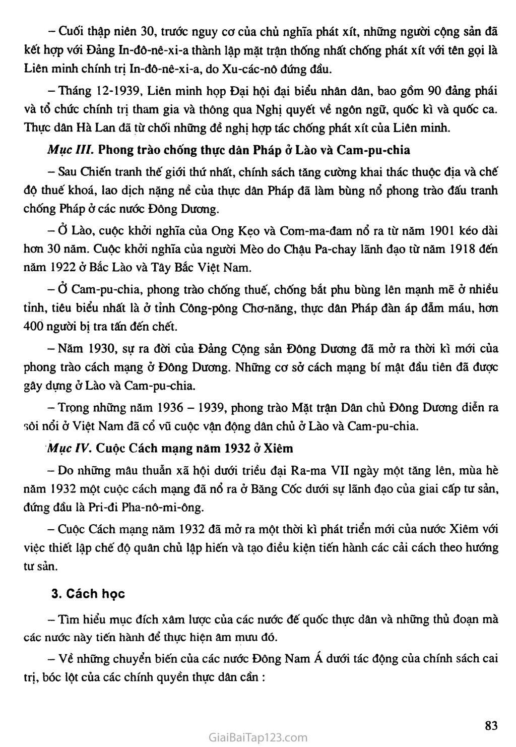 Bài 16: Các nước Đông Nam Á giữa hai cuộc chiến tranh thế giới (1918 - 1939) trang 3
