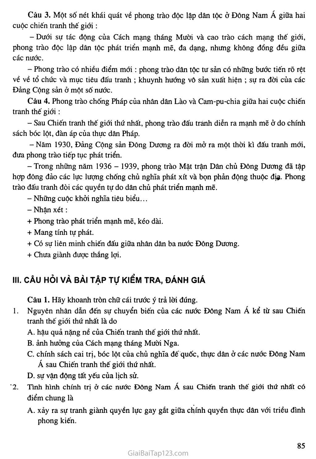 Bài 16: Các nước Đông Nam Á giữa hai cuộc chiến tranh thế giới (1918 - 1939) trang 5