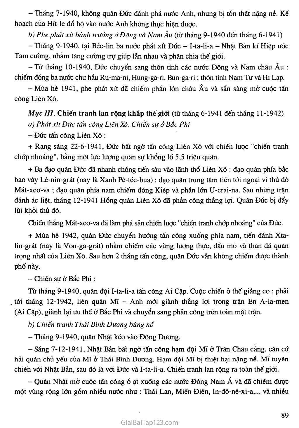 Bài 17: Chiến tranh thế giới thứ hai (1939 - 1945) trang 3