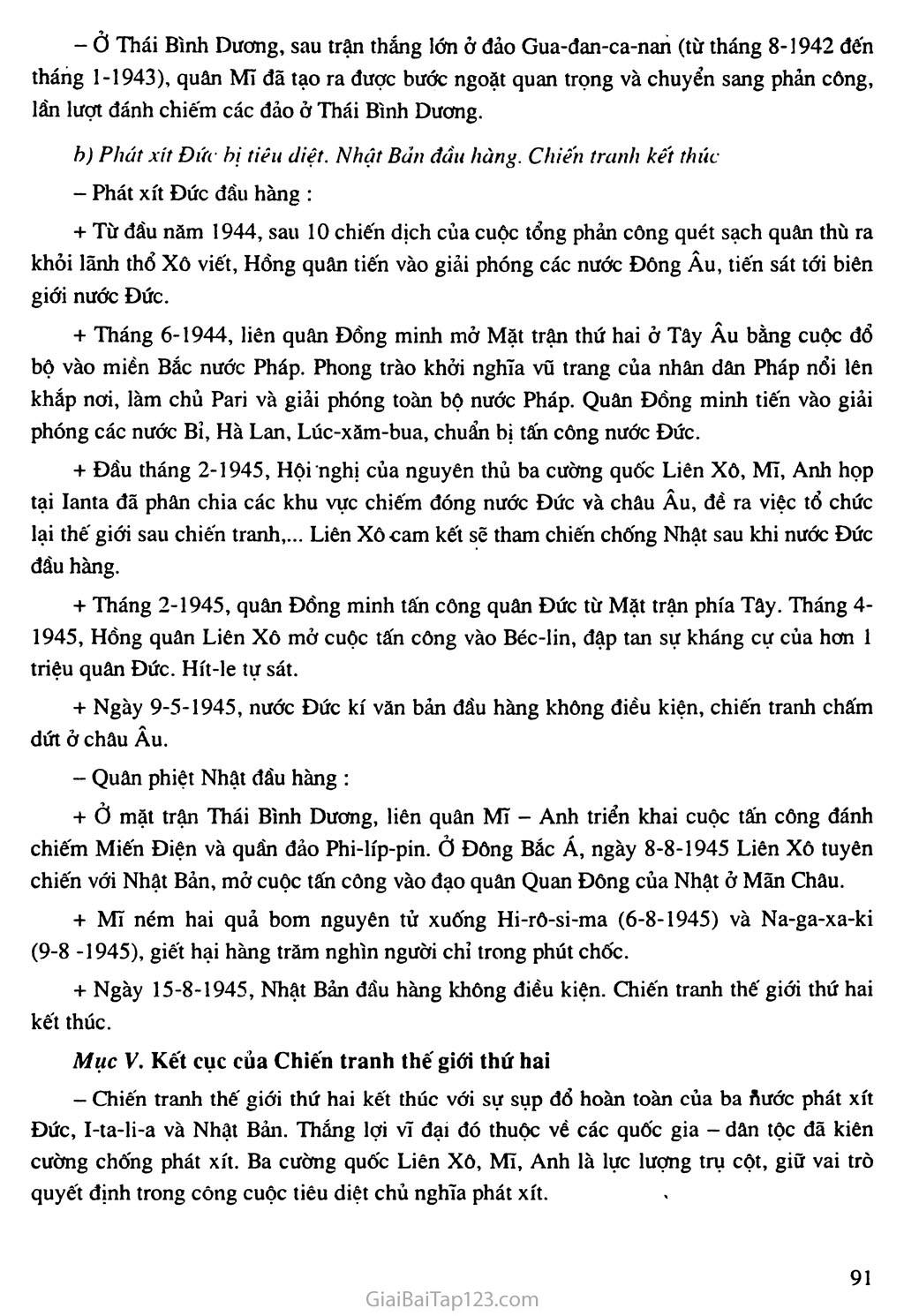 Bài 17: Chiến tranh thế giới thứ hai (1939 - 1945) trang 5
