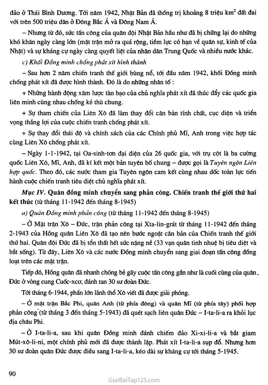 Bài 17: Chiến tranh thế giới thứ hai (1939 - 1945) trang 4