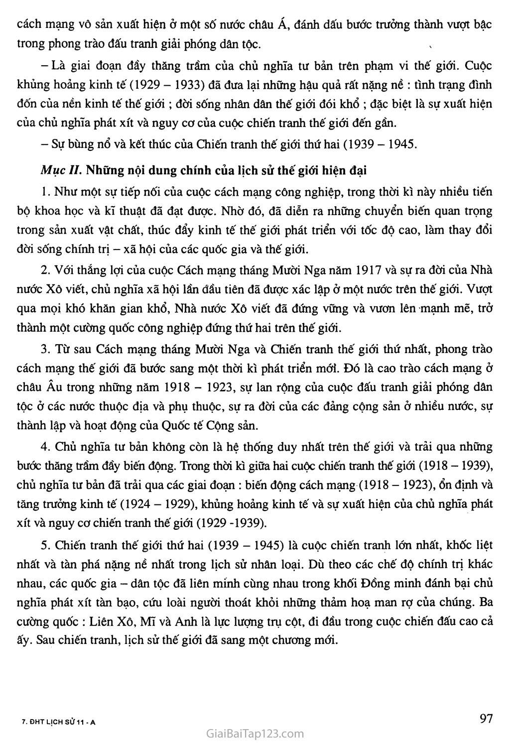 Bài 18: Ôn tập lịch sử thế giới hiện đại (phần từ năm 1917 đến năm 1945) trang 2