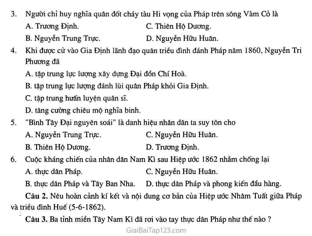 Bài 19: Nhân dân Việt Nam kháng chiến chống thực dân Pháp xâm lược (từ năm 1858 đến trước năm 1873) trang 8