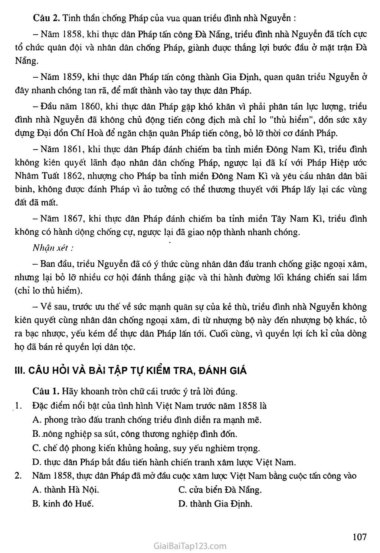 Bài 19: Nhân dân Việt Nam kháng chiến chống thực dân Pháp xâm lược (từ năm 1858 đến trước năm 1873) trang 7