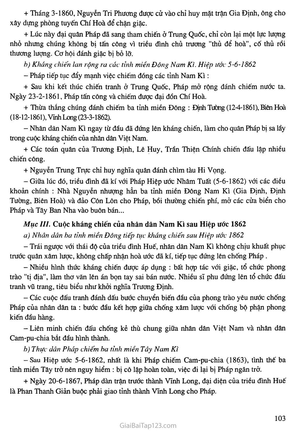 Bài 19: Nhân dân Việt Nam kháng chiến chống thực dân Pháp xâm lược (từ năm 1858 đến trước năm 1873) trang 3