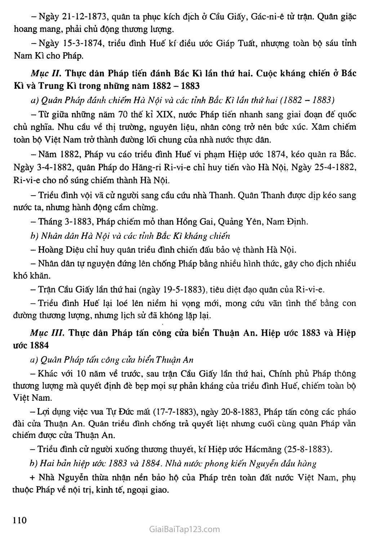 Bài 20: Chiến sự lan rộng ra cả nước. Cuộc kháng chiến của nhân dân ta từ năm 1873 đến năm 1884. Nhà Nguyễn đầu hàng trang 3