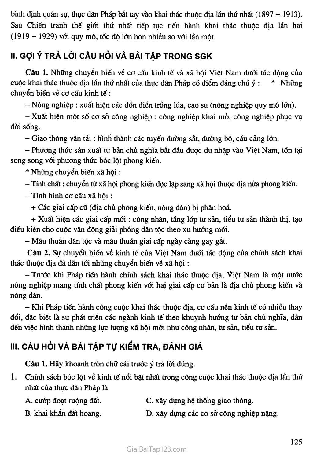 Bài 22: Xã hội Việt Nam trong cuộc khai thác lần thứ nhất của thực dân Pháp trang 4