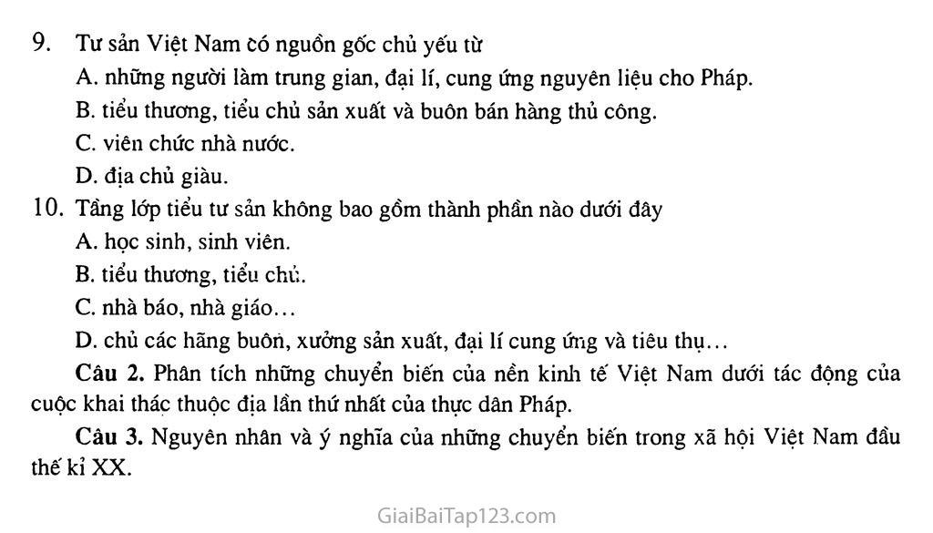 Bài 22: Xã hội Việt Nam trong cuộc khai thác lần thứ nhất của thực dân Pháp trang 6
