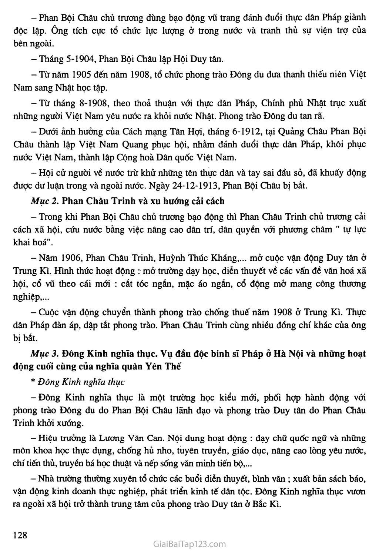 Bài 23: Phong trào yêu nước và cách mạng ở Việt Nam từ đầu thế kỷ XX đến chiến tranh thế giới thứ nhất (1914) trang 2