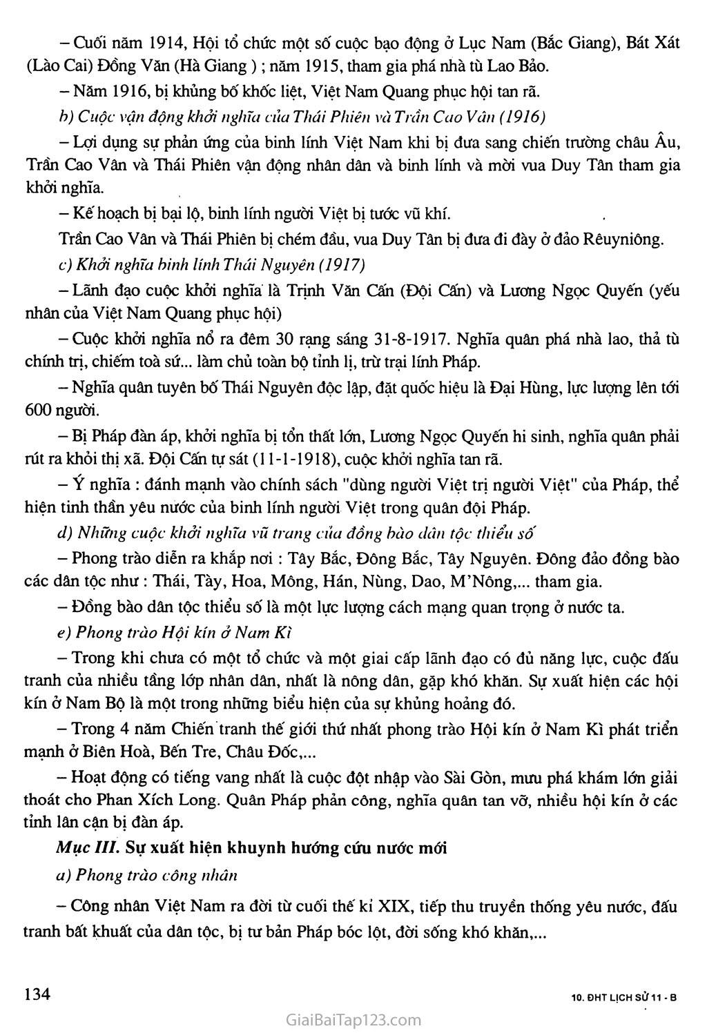 Bài 24: Việt Nam trong những năm chiến tranh thế giới thứ nhất (1914 - 1918) trang 2