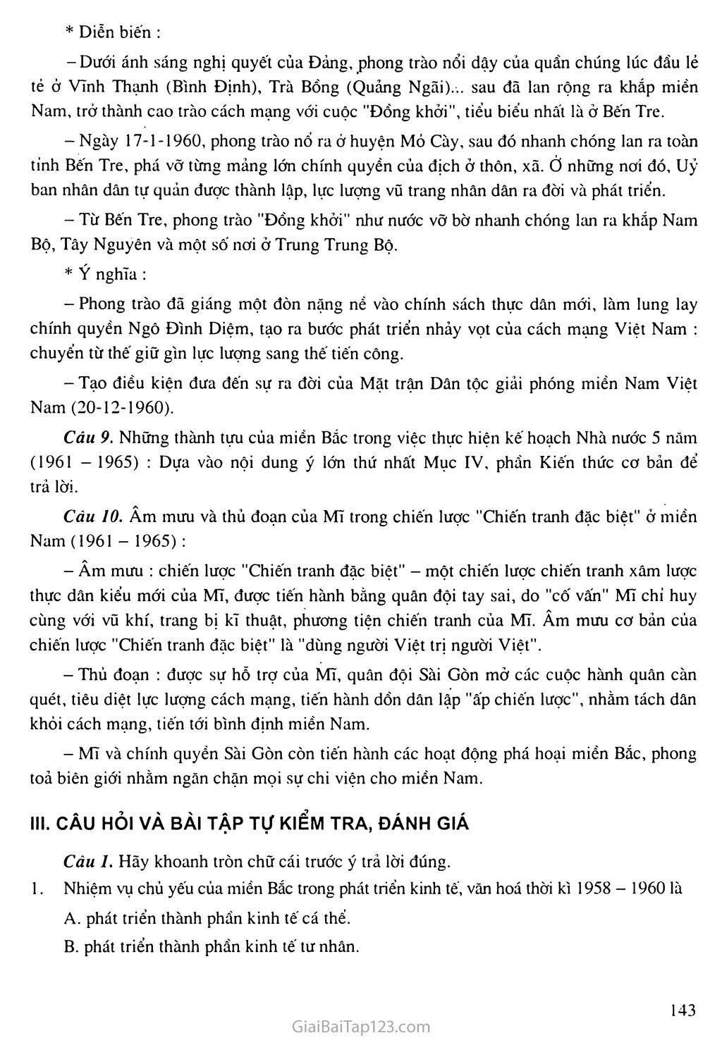 Bài 28: Xây dựng chủ nghĩa xã hội ở miền Bắc, đấu tranh chống đế quốc Mĩ và chính quyền Sài Gòn ở miền Nam (1954 - 1965) trang 8