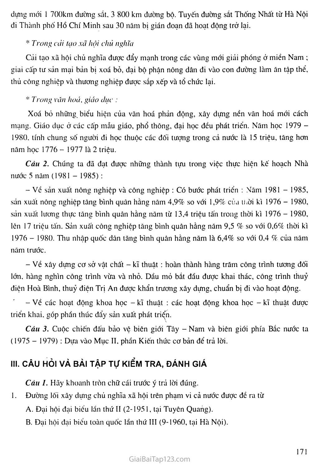 Bài 32: Xây dựng đất nước, đấu tranh bảo vệ Tổ quốc (1976 - 1985) trang 5