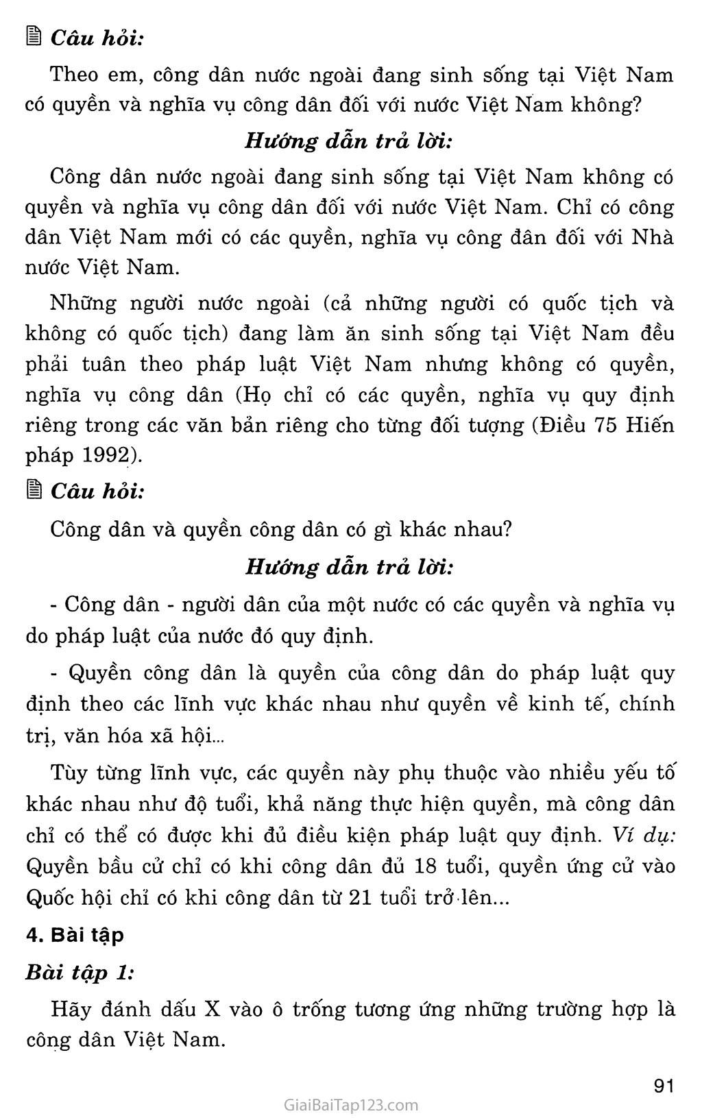 Bài 13: Công dân nước Cộng hòa xã hội chủ nghĩa Việt Nam trang 7