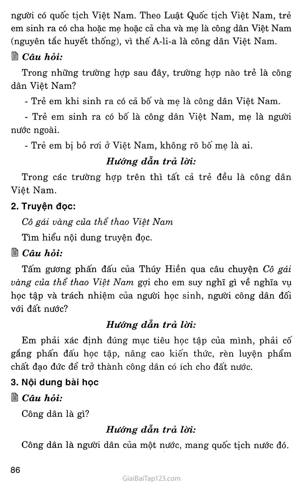 Bài 13: Công dân nước Cộng hòa xã hội chủ nghĩa Việt Nam trang 2