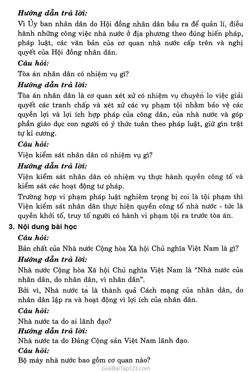 Bài 17: Nhà nước Cộng hòa xã hội chủ nghĩa Việt Nam trang 7