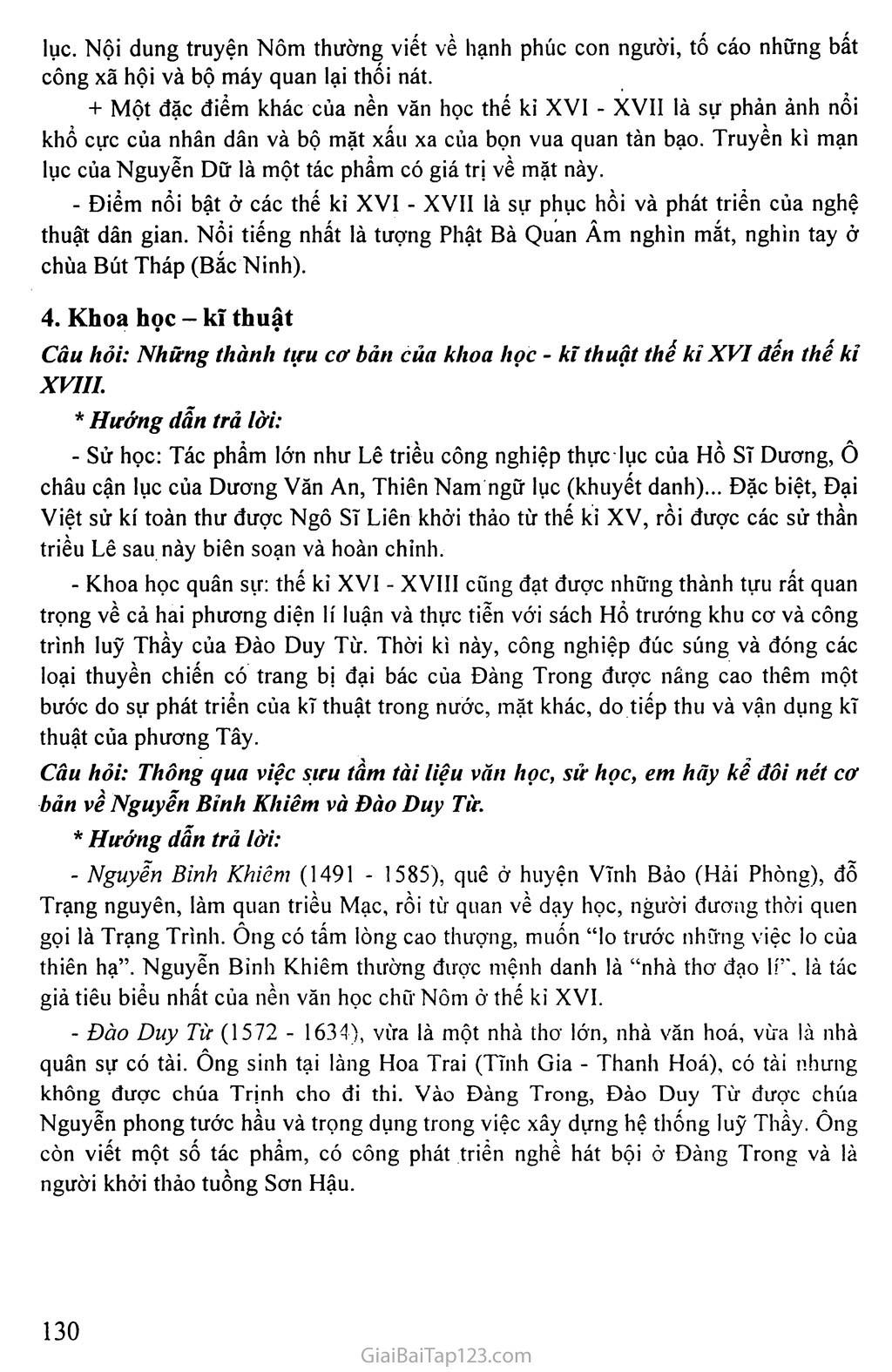 Bài 36: Tình hình văn hóa, tư tưởng thế kỉ XVI - đầu thế kỉ XVIII trang 3