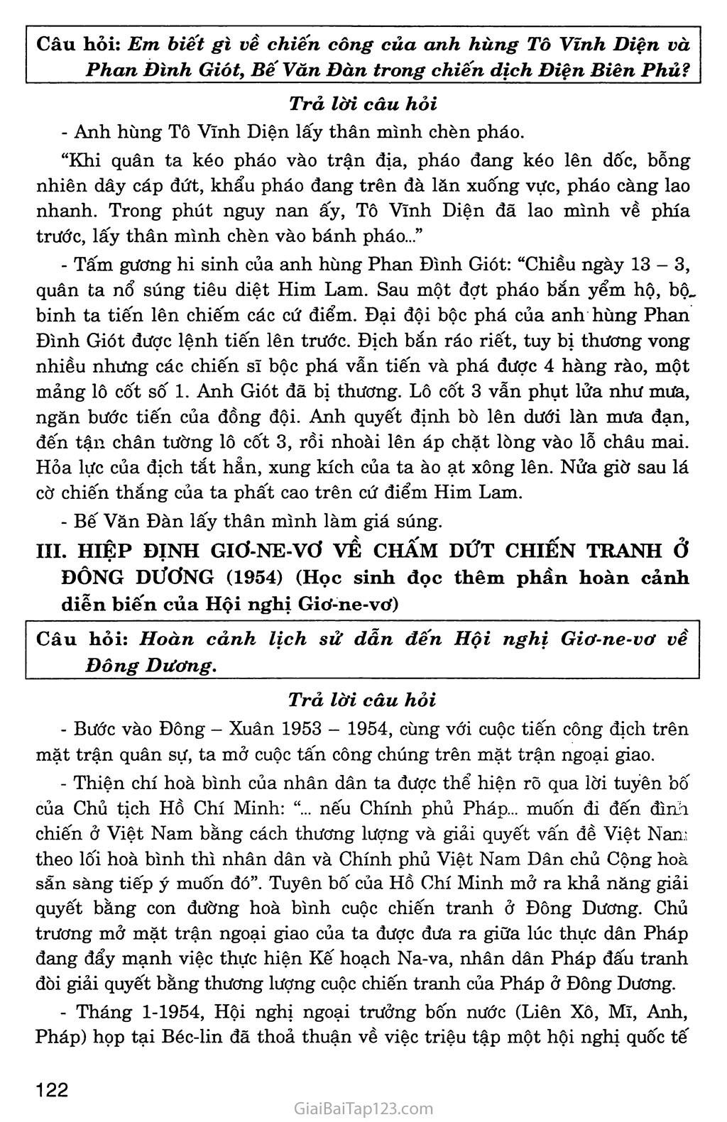 Bài 27: Cuộc kháng chiến toàn quốc chống thực dân Pháp xâm lược kết thúc (1953 - 1954) trang 6