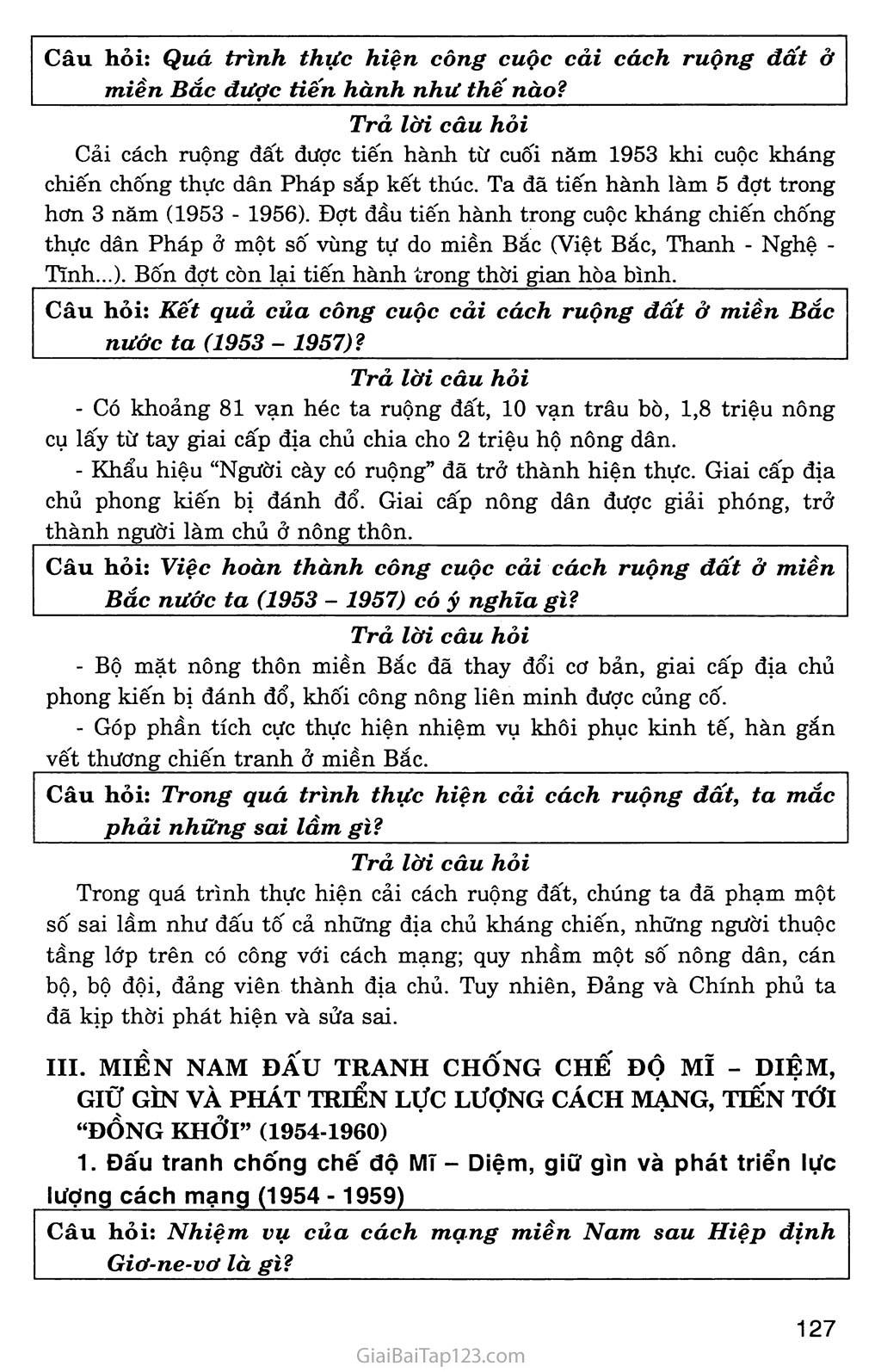 Bài 28: Xây dựng chủ nghĩa xã hội ở miền Bắc, đấu tranh chống đế quốc Mĩ và chính quyền Sài Gòn ở miền Nam (1954 - 1965) trang 3