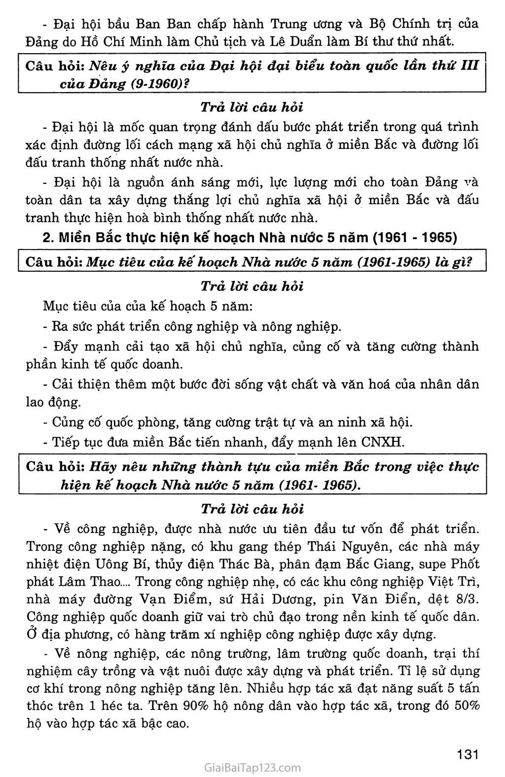 Bài 28: Xây dựng chủ nghĩa xã hội ở miền Bắc, đấu tranh chống đế quốc Mĩ và chính quyền Sài Gòn ở miền Nam (1954 - 1965) trang 7